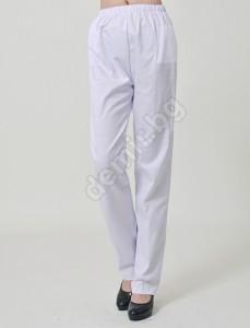 Бял медицински работен панталон